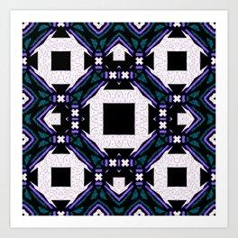 Organized Chaos Squares Versus Triangles Art Print
