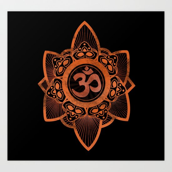 Ohm - Yoga Print Art Print
