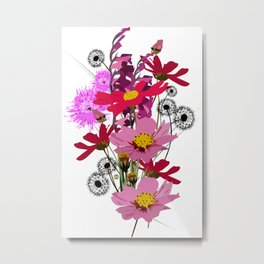 Bouquet de printemps Metal Print