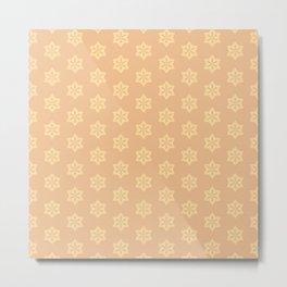 Dusty Pink Pattern Metal Print