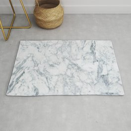 Vintage elegant navy blue white stylish marble Rug