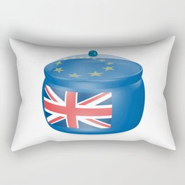 Flag of the Great Britain. Bowl with a translucent cover. The symbol of the European Union. Rectangular Pillow