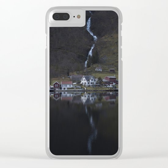 River that vanishes (Fjord) Clear iPhone Case