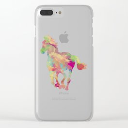 Abstract horse Clear iPhone Case