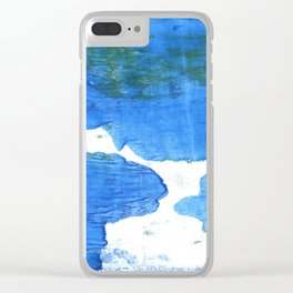 Bleu de France abstract watercolor Clear iPhone Case