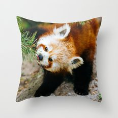 Little Red Panda Throw Pillow
