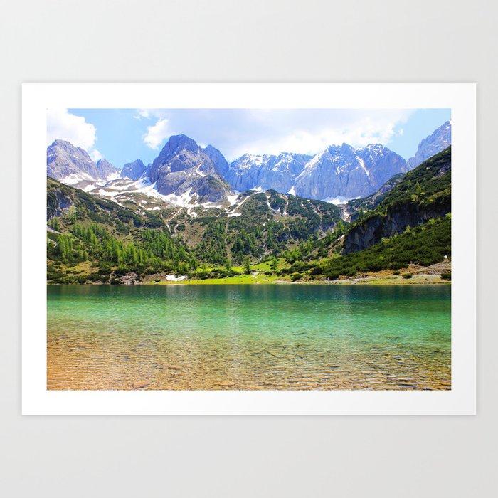 Mountain landscape. Art Print