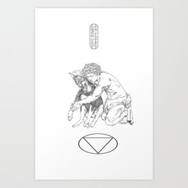 Duality of a Dog Art Print