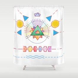PowerLines 18 Shower Curtain