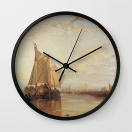 The Dort Packet-Boat from Rotterdam J. M. W. Turner Wall Clock