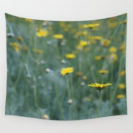 Little Yellow Daisy Wall Tapestry