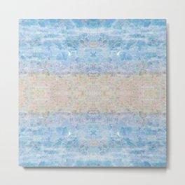 BOHEMIAN ICE STONE BLUE Metal Print