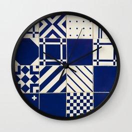 Tiles Old Porcelain Pattern Wall Clock
