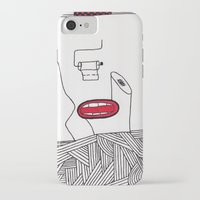 toilet iPhone & iPod Cases featuring toilet by DAMlab