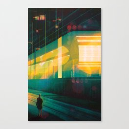 The Late Train Canvas Print