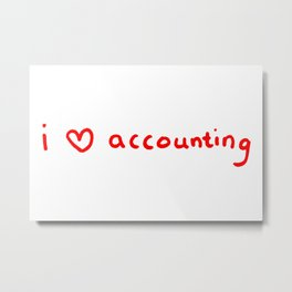 I Heart Accounting Metal Print