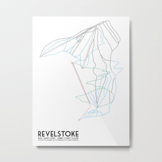 Revelstoke, BC, Canada - Minimalist Trail Map by circlesquarediamond