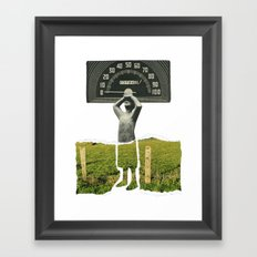 Don't Let The Speed Of Time, Fence You In...... Framed Art Print