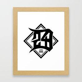 D24 Designs logo Framed Art Print