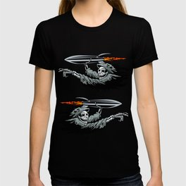 Grim Reaper launching missile. T-shirt