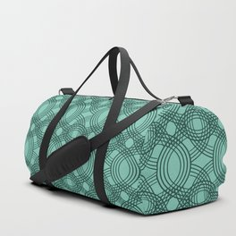 Celtic Knot pattern Spearmint Duffle Bag