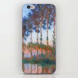 Claude Monet: Poplars on the banks of the River Epte, Sunset iPhone Skin