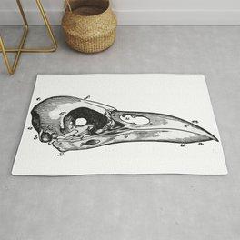 Crow skull Rug