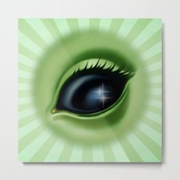 Alien Eye - Eye See You Metal Print