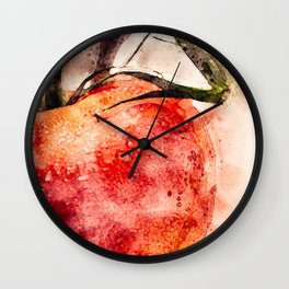 Tomato On Vine Wall Clock
