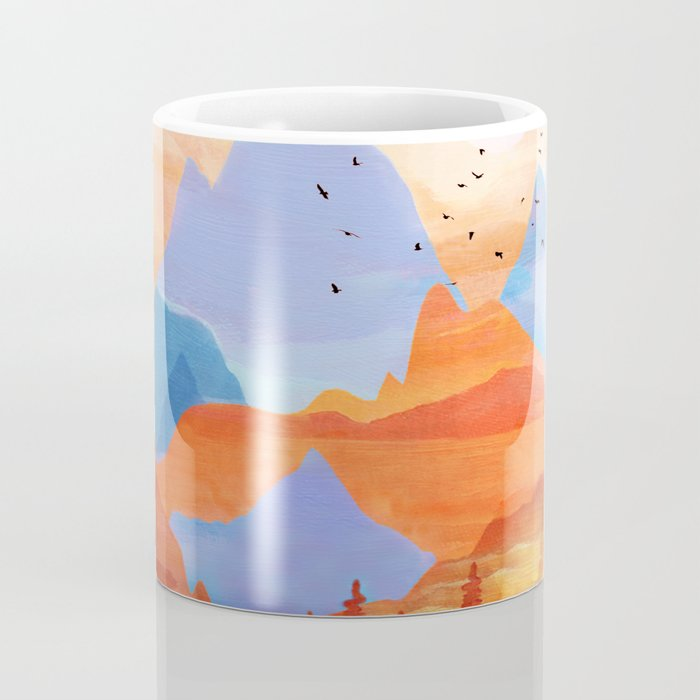 Sunrise Over the Fall Mountain Peaks Coffee Mug