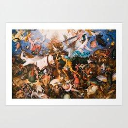 The Fall Of The Rebel Angels 1562 By Pieter Bruegel The Elder Kunstdrucke