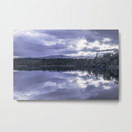 Cloud reflection over the lake Metal Print