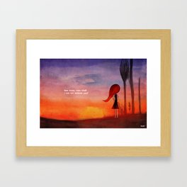 How many sunsets shall i see without you? Framed Art Print