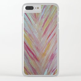 Feather Lines Clear iPhone Case
