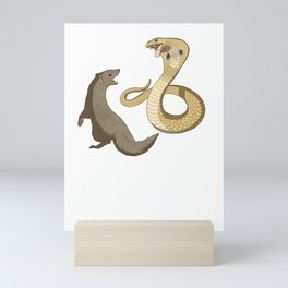 This mongoose vs cobra design is the perfect gift for martial artists who loves Taekwondo or Kung Fu Mini Art Print