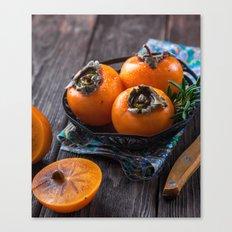 persimmon fruits, still life Canvas Print