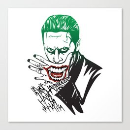 Joker_Jared Leto_Suicide Squad Canvas Print