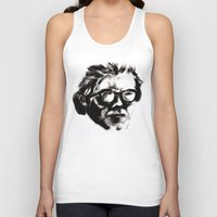 beethoven Tank Tops featuring Hipster Beethoven by Hurtin Albertan