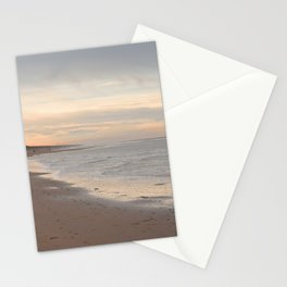 Winter walk beach - soft pastel colors - Zandvoort Holland - travel photography -  Stationery Cards