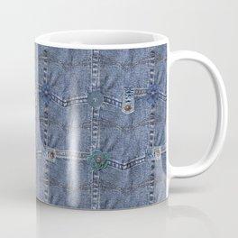 Blue Jeans Denim Pocket Patchwork Coffee Mug