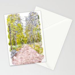 Autumn Alley Stationery Cards