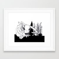 hunting Framed Art Prints featuring Hunting  by Mack