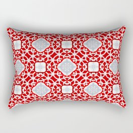 Christmas Abstract Pattern with Sweet Topping Rectangular Pillow