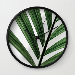 Palm Leaves 13 Wall Clock