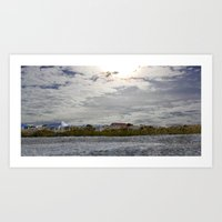 rileigh smirl Art Prints featuring At the Beach by Rileigh Smirl