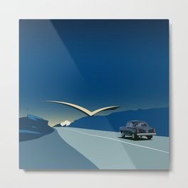 "Soviet Modernism: ""Seagull"" road mark at the northern entry of Yerevan Metal Print"