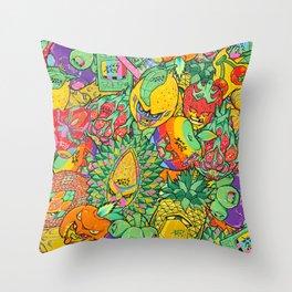 Fruity Hero by BKK BROS. Throw Pillow