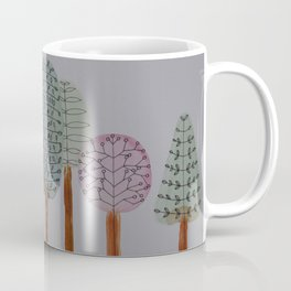Forest Line Drawing Coffee Mug