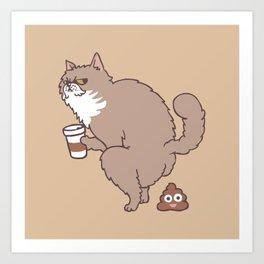 Coffee Makes Cat Poop Art Print