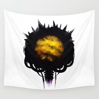 metroid Wall Tapestries featuring Zebes by Ian Wilding